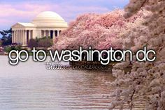 Go to Washington D.C. Coming summer of 2015!