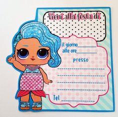 Biglietti invito digitale PDF ispirati a Lol surprise da 8th Birthday, Happy Birthday, Doll Party, Lol Dolls, Facebook Sign Up, Kids, Gaia, Camilla, Matcha