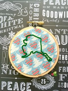A personal favorite from my Etsy shop https://www.etsy.com/listing/478181479/state-pride-3-hand-embroidery-christmas