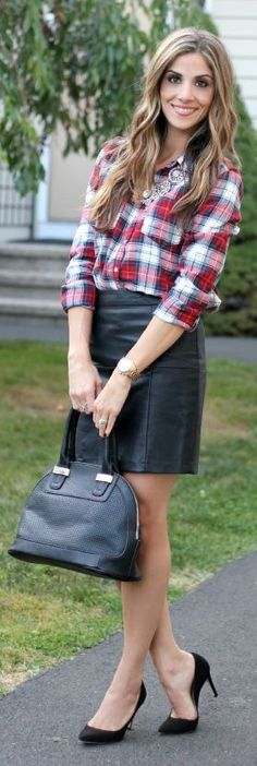 Multi Plaid Button Up