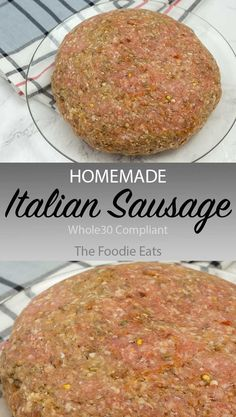 This homemade Italian sausage is not sweet, has a medium spice level, and a whole lot of specialness. And it's compliant! via This homemade Italian sausage is not sweet, has a medium spice level, and a whole lot of specialness. And it's compliant! Italian Sausage Seasoning, Homemade Italian Sausage, Homemade Sausage Recipes, Homemade Breakfast Sausage, Italian Sausage Recipes, Sweet Italian Sausage, Homemade Spices, Homemade Seasonings, Italian Recipes