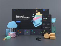 BitCloud - Crypto Exchange UI Kit by Tran Mau Tri Tam ✪ Directory Design, Modern Web Design, Website Design Inspiration, Ui Kit, Interactive Design, Portfolio Design, Branding Design, Top Designers, Cryptocurrency