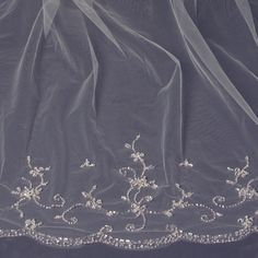 """""""The Nerida"""" Cathedral Length Hand Sewn Veil"""