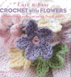 35 gorgeous crochet projects all incorporating beautiful projects with floral motifs and decorations. First-time crocheters and more experienced stitches will love these pretty designs embellished wit