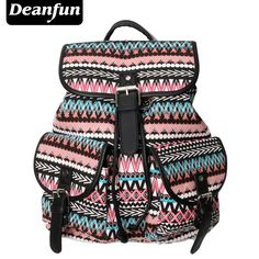Deanfun Women Canvas Backpack Handmade Vintage Striped Pattern Printing For Travel FB2 //Price: $20.99 & FREE Shipping //     #hashtag1