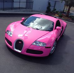 He woke up in a Pink Bugatti- in honor of Breast Cancer Awareness