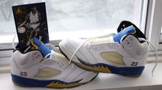 1999 Air Jordan Laney 5's sittin by the window