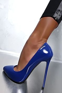 MADE IN ITALY CLASSIC LUXUS PIGALLE HIGH HEELS A75 PUMPS SCHUHE LEDER BLAU 36 #coolshoeshighheels #highheelsextreme