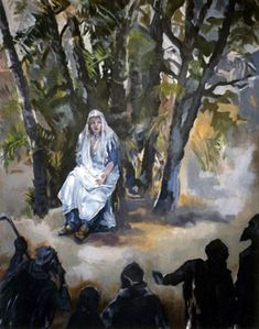 Pat Berger - Fine Artist - Women and Plants of the Bible. Deborah, judge and prophetess (Judges 4&5).