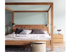 Destro Poster Bed BD This modern looking bed is beautiful and carefully crafted using premium grade of teak wood. Available in Super King, King and Queen sizes. Size : Super King Mattress : 183 X Size : King Mattress : 183 X Size : Queen Mattress : 153 X Queen Size Canopy Bed, Metal Canopy Bed, Queen Beds, Queen Mattress, Wood Bedroom Furniture, Teak Furniture, Modern Murphy Beds, At Home Furniture Store, Cheap Bed Sheets