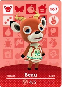 Amiibo-Cards-167-BEAU-Series-2-Animal-Crossing-Happy-Home-Designer-NA