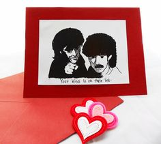 Hall & Oates Inspired Valentine's Day Card Kiss on by WellOwlBee, $3.50