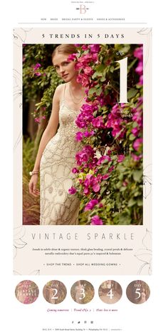 #newsletter BHLDN 01.2015 5 trends every bride should know about.