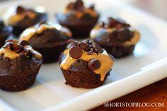 Chocolate Peanutbutter Brownie Bites from shortstopblog.com