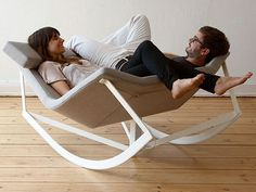 I'm liking this rocking chair for two.