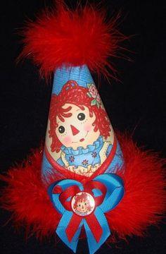 raggedy ann party ideas | RAGGEDY ANN...n' Friends / *RAGGEDY ANN ~ Birthday Party Hat Supplies.