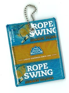 Repurposed RedHook Rope Swing Beer Labels Luggage by squigglechick, $12.00
