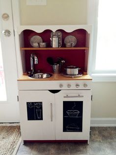 Childs play  Kitchen made from old hutch