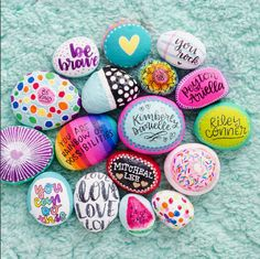 Hand painted rock / you rock / painted rocks / painted stones / rock ...