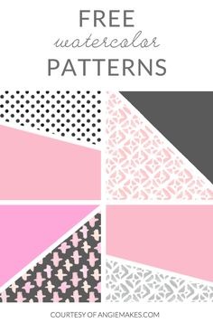 Free Watercolor Patterns - Courtesy of