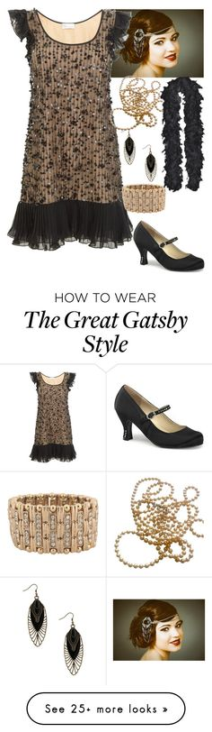 """""""1920's Flapper"""" by kel-bell-453 on Polyvore featuring RED Valentino and Forever 21"""