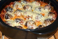 Outrageous Meatball Parm - good lord. Easy and soooo yum!