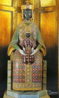 """This pic is labeled """"the Black Madonna,"""" but I could not discover its provenance. It resembles the Black Madonna of Tindari, Sicily."""