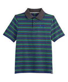 Look at this Charcoal Classic Stripe Polo - Boys on #zulily today!