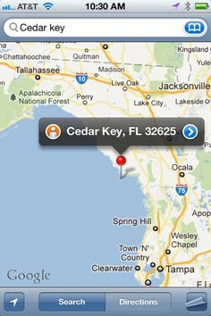Map to Cedar Key  I live in Spring Hill just south of there