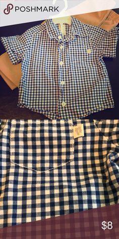 Boys dress shirt Short sleeved button down shirt; can be dressed up or down OshKosh B'gosh Shirts & Tops Button Down Shirts