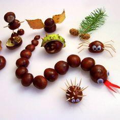 Autumn Leaves Craft, Autumn Crafts, Nature Crafts, Thanksgiving Crafts, Leaf Crafts, Pine Cone Crafts, Diy And Crafts, Diy For Kids, Gifts For Kids