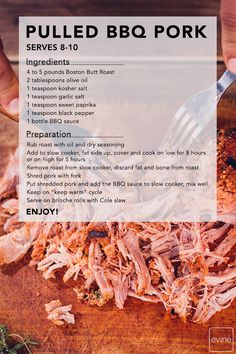 Looking for a meal that is hearty, easy & the whole family will love? Then you'll want to save this Pulled BBQ Pork recipe! Add the ingredients to your crockpot or slow cooker and in a matter of hours you'll have a meal for the entire family OR your meal prep done for the week! Plus, click through for more kitchen essentials
