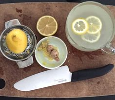 Valentina Zelyaeva   5 reasons to start your day with warm Lemon Ginger Water...grate the ginger right into the lemon water (1 teaspoon grated ginger)