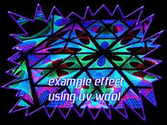 UV reactive acrylic yarn