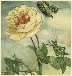 Max Dingler / Der Heuschreck und die Blumen / 1924