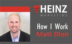 """How I Work"": Matt Dion, CEO at Mintent Software @mattdion #HowIWork - Heinz Marketing Interesting Blogs, Sales And Marketing, Insight, Software, Reading, Things To Sell, Reading Books"