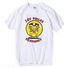 bad9c6641c52 Los Pollos Hermanos Print Cotton Hip Hop Tees. DaenerysKhaleesiTeesShirtsBreaking  ...
