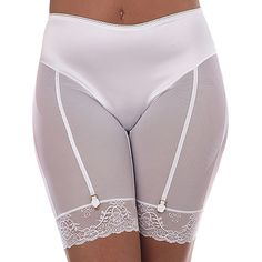 Our Classic garment is sensual, indulgent and exudes 1950s glamour. The faux suspenders frame the fine mesh of the legs and derrière, and feature feminine and flirty rose embellishments atop glossy…