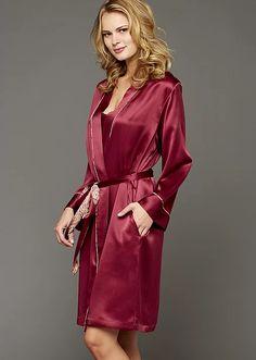 Julianna Rae Paradise Found Silk Short Robe. #luxury #lingerie #robe #silk #ladies