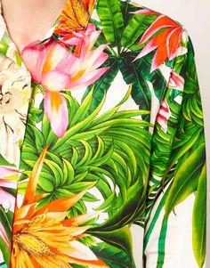 A tropical print shirt