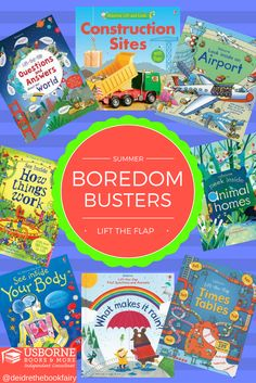 Lift the Flap Books are engaging and educational! These books will be sure to keep your kids entertained this summer and prevent some of that summer slide that can happen! Usborne Books & More offers lift the flap books for many different age groups! Check them out here: e6365.myubam.com