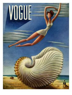 Vogue Cover - July 1937  by Miguel Covarrubias