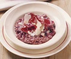 Rezept: Radicchiorisotto mit Parmesan