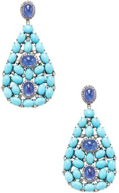 Arthur Marder Fine Jewelry Women's Diamond, Sleeping Beauty Turquoise, Tanzanite, 14K Gold & Sterling Silver Earrings. Turquoise jewelry. I'm an affiliate marketer. When you click on a link or buy from the retailer, I earn a commission.