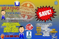 Clean Air Ducts, Chimney Sweep, Duct Cleaning, Conditioning, San Antonio
