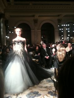 LOVE wedding dresses with black overlay like this Black Wedding Dresses, Formal Dresses, Wedding Bells, Wedding Day, Marchesa Bridal, Weeding, Harrods, Overlay, Bridesmaids