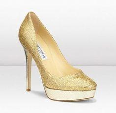 Tacones dorados para novias 4