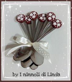 Cucchiaini decorati con pandistelle realizzati in fimo...by I ninnoli di Linda