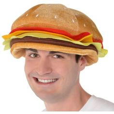 This burger hat features layers of felt toppings and a beef patty. Provide some food for thought by adding a Cheeseburger Hat to your burger costume. Burger Costume, Shark Costumes, Food Costumes, Crazy Halloween Costumes, Halloween Costume Accessories, Halloween Stuff, Halloween Ideas, Hockey, Shark Hat