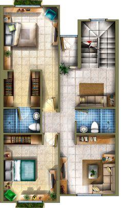 Plano 2 Casa Tres Niveles